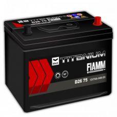 Аккумулятор FIAMM Black Titanium 75Ah EN 640A R+ Asia