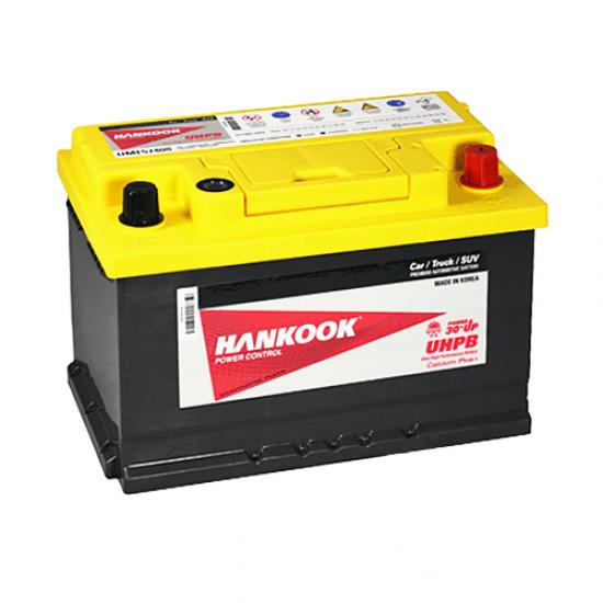 Аккумулятор HANKOOK (UMF 57400) 6СТ-74Ah R+