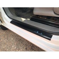 Накладки на дверные пороги (DDU, ABS-пластик) Volkswagen Caddy 2004-2010 гг.