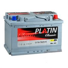 Аккумулятор PLATIN Classic 75Ah EN 750A L+