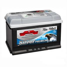 Аккумулятор SZNAJDER Silver Premium 75Ah EN 750A R+ (низкобазовый)