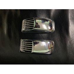 """Решетка на повторитель """"Прямоугольник"""" (2 шт, ABS) Acura MDX 2007-2013 гг."""