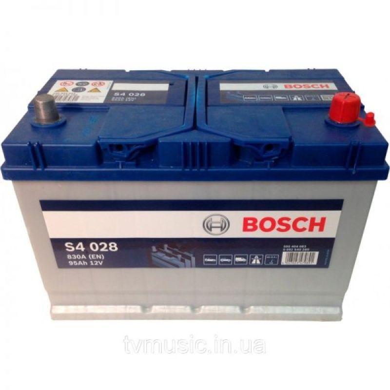 Аккумулятор Bosch S4 Silver 95Ah 830A R+ (S4 028)