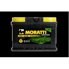 Аккумулятор MORATTI kamina 62Ah 610A R+